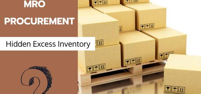 Mro procurement to excess inventory